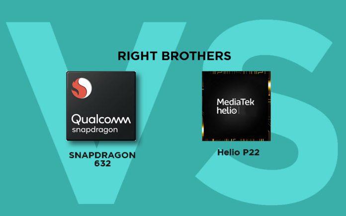 Qualcomm Snapdragon 632 vs MediaTek Helio P22: Detailed